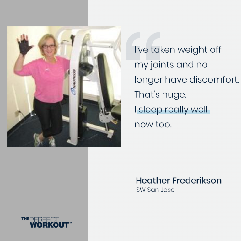 Female member talks about better sleep from strength training