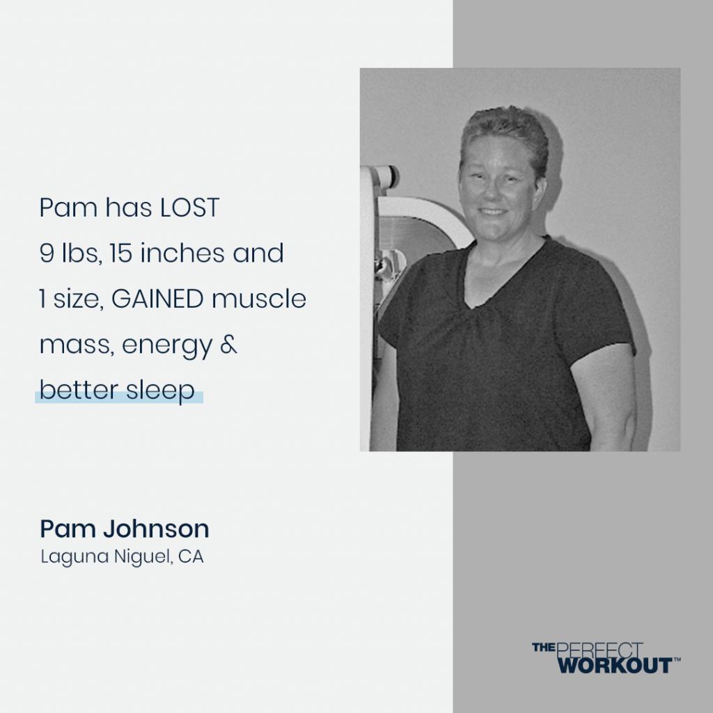 Female testimonial on strength training and sleep