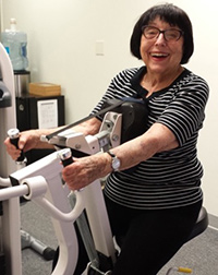 woman over 90 years old strength training