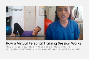 a trainer answering the questions about how a virtual training session works