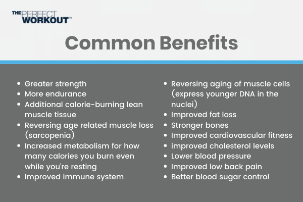 Common benefits of slow motion strength training