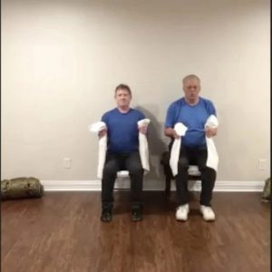 At home strength training for older men