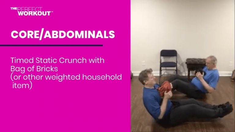 Male clients doing abdominal workouts virtually