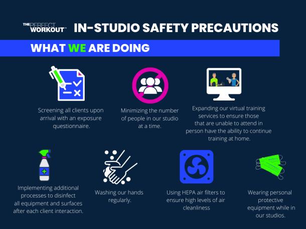 In studio Covid-19 Safety precautions 1