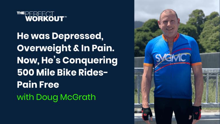Doug with his bike living life pain free