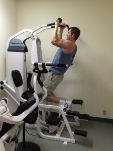 Matt Hedman muscles training