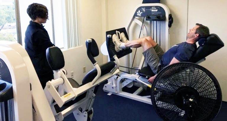 Matt Hedman slow motion leg press at The Perfect Workout