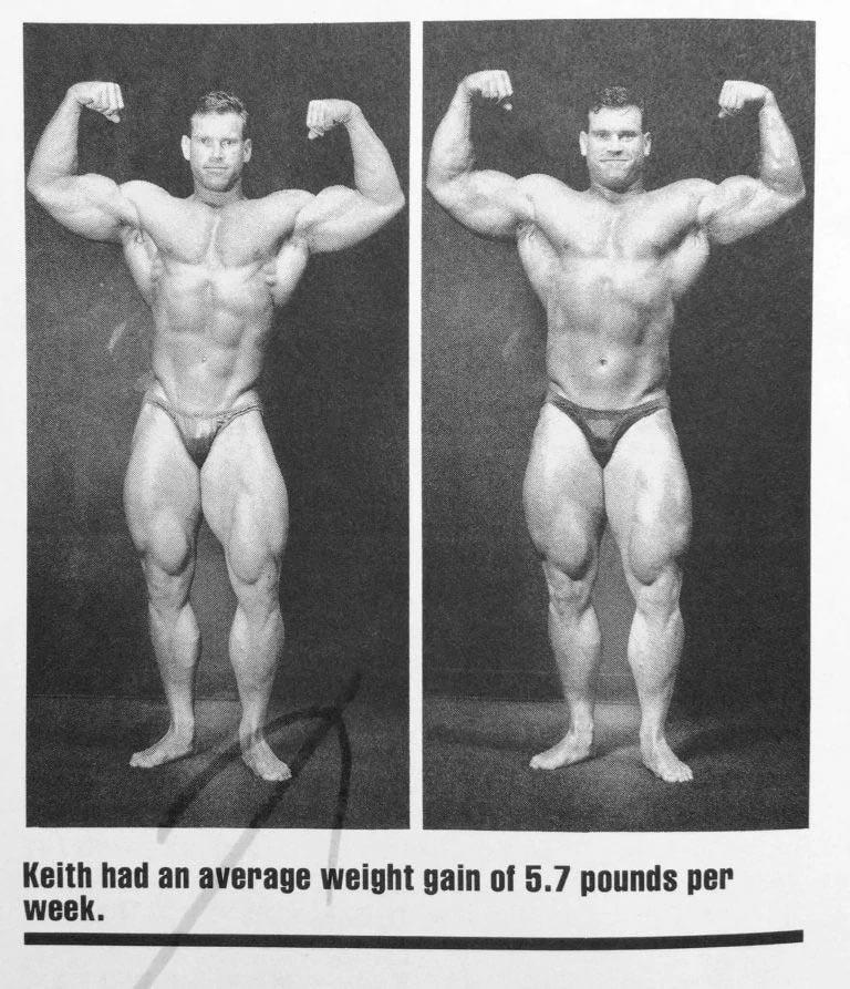 Strength training body builder results