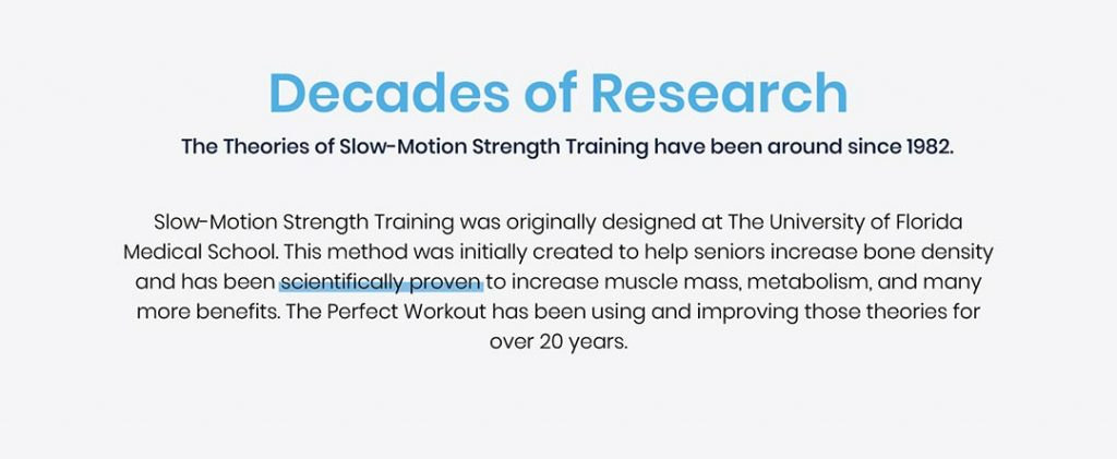 decades of research on slow motion strength training