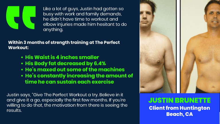 justin brunette testimonial the perfect workout