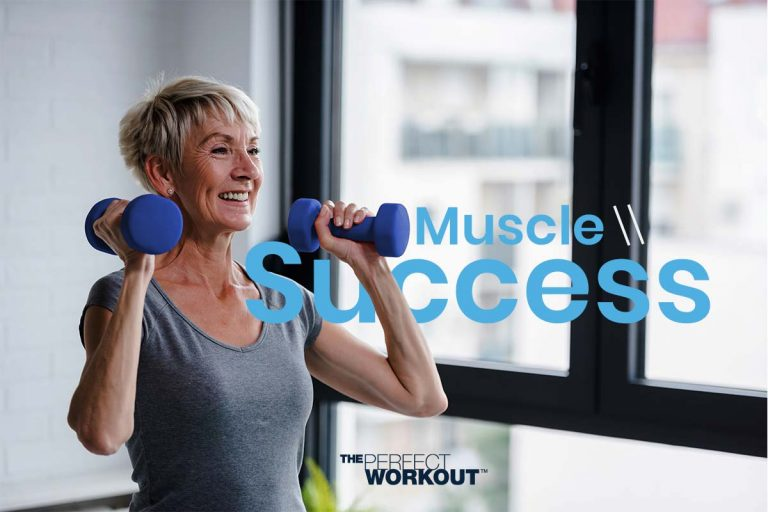Woman experiencing muscle failure