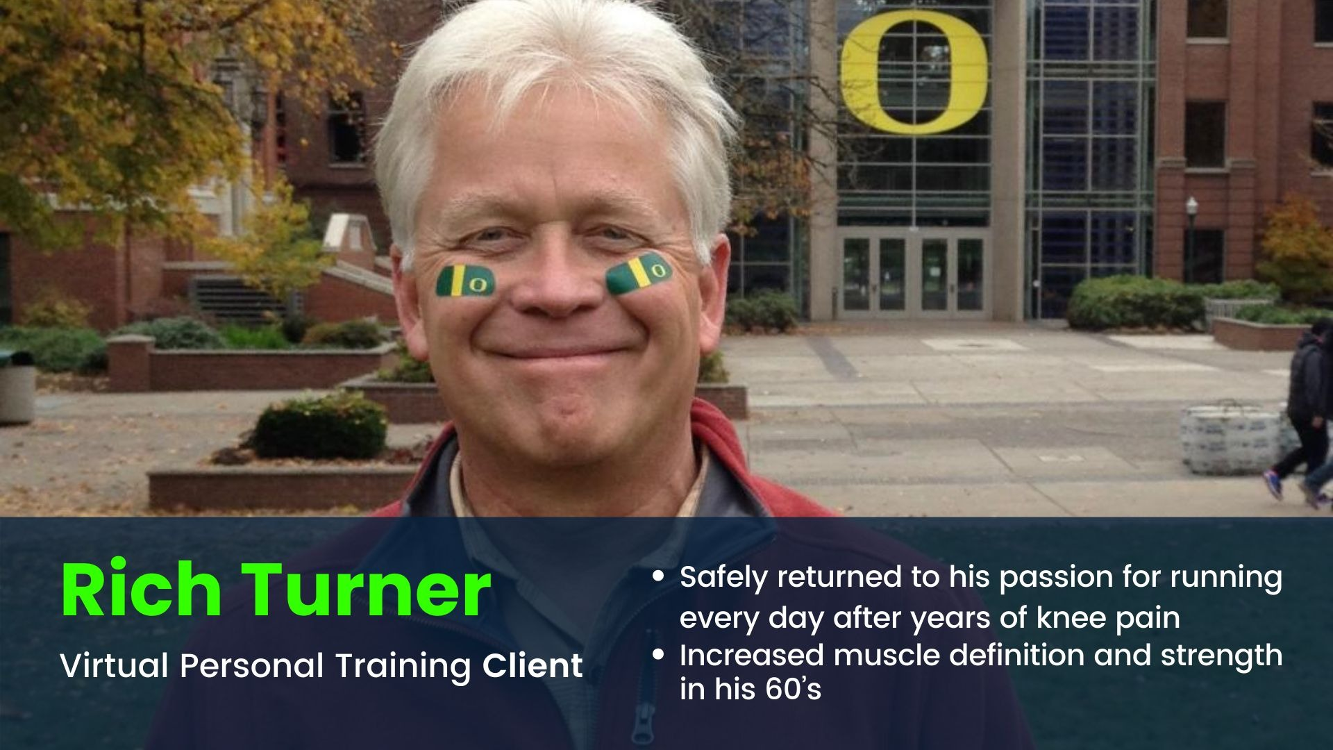 Client smiling about his results with his Virtual Personal Training program