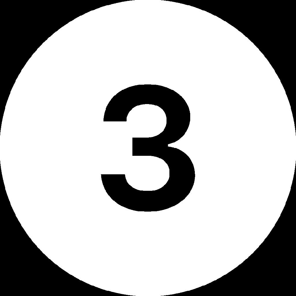 three icon in white
