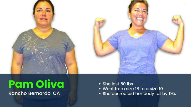 Rancho Bernardo client before and after weight loss results