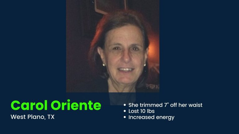 West Plano client lost weight and increased energy