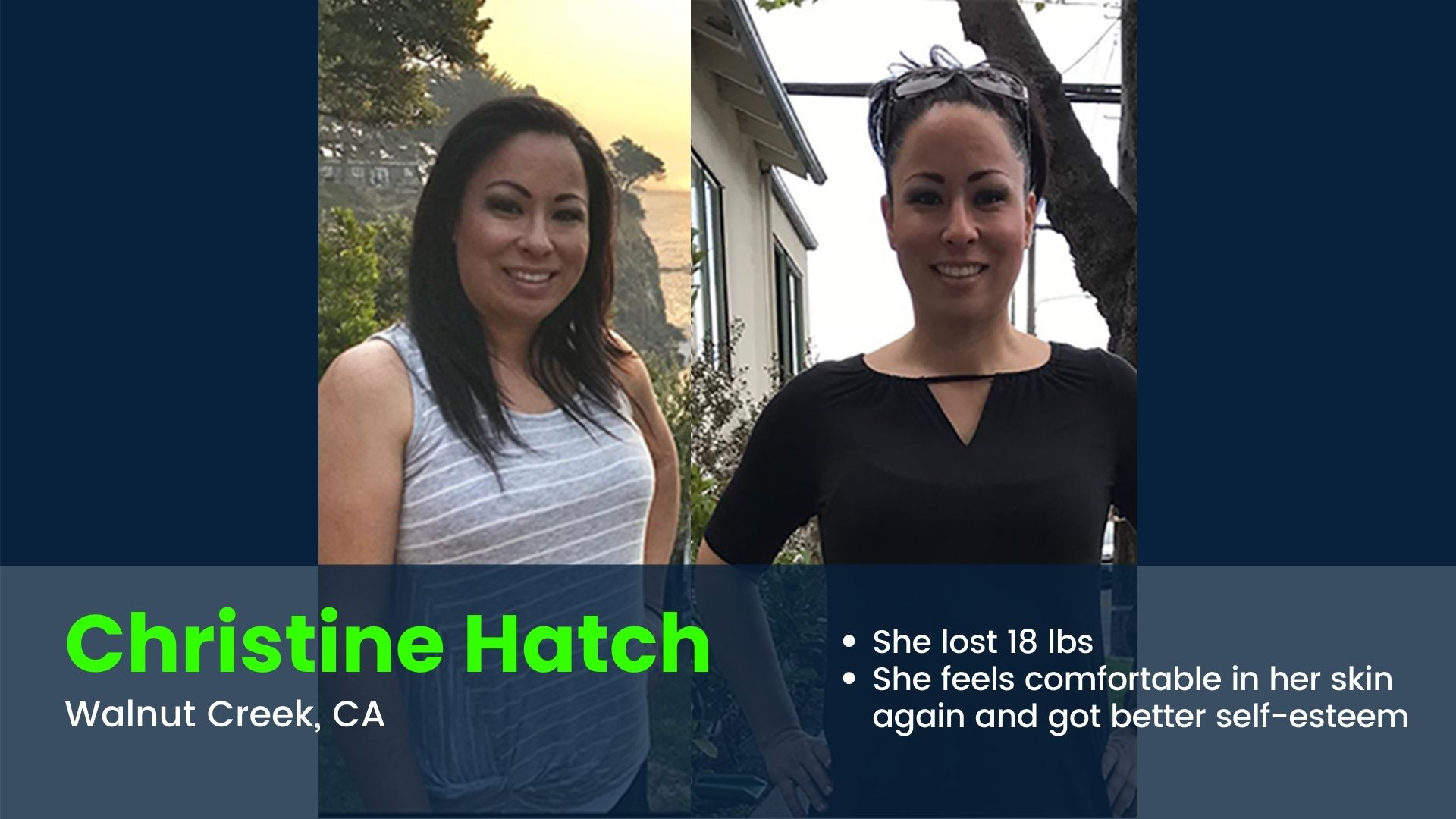 Woman loses 18 lbs with personal trainer in Walnut Creek
