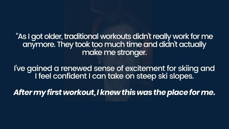 West Plano personal training client feels confident to ski