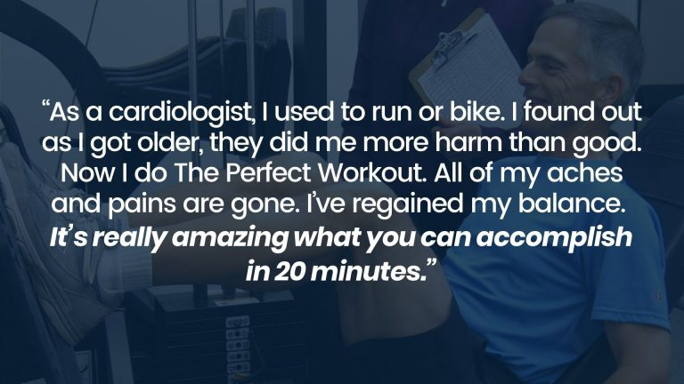 Cardiologist working out with The Perfect Workout