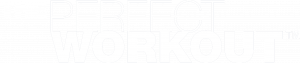 The Perfect Workout logo White