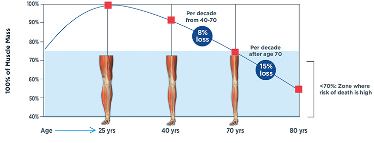 muscle loss aging infographic