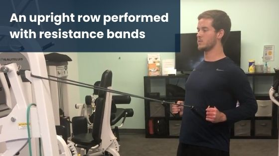 Upright Row Resistance Bands