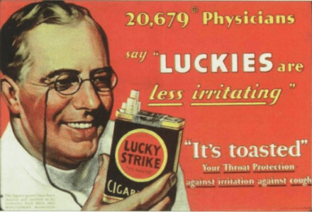 Cigarette Ad from Harvard Research