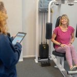 Female Personal Trainer with Female Client After Workout