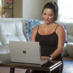 Female Virtual Client on laptop