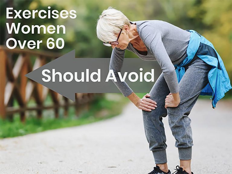 Woman over 60 recovering from exercise