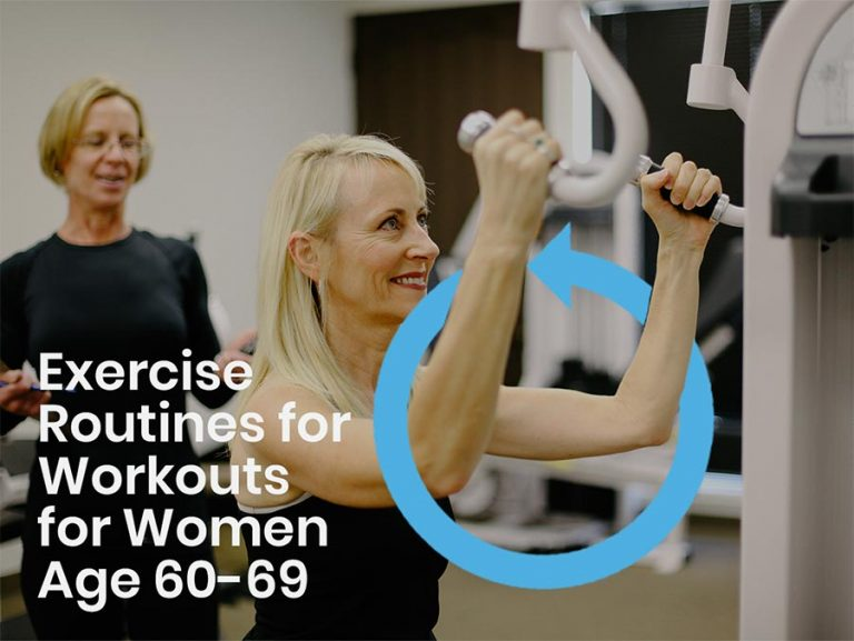 Woman over 60 exercising with a personal trainer