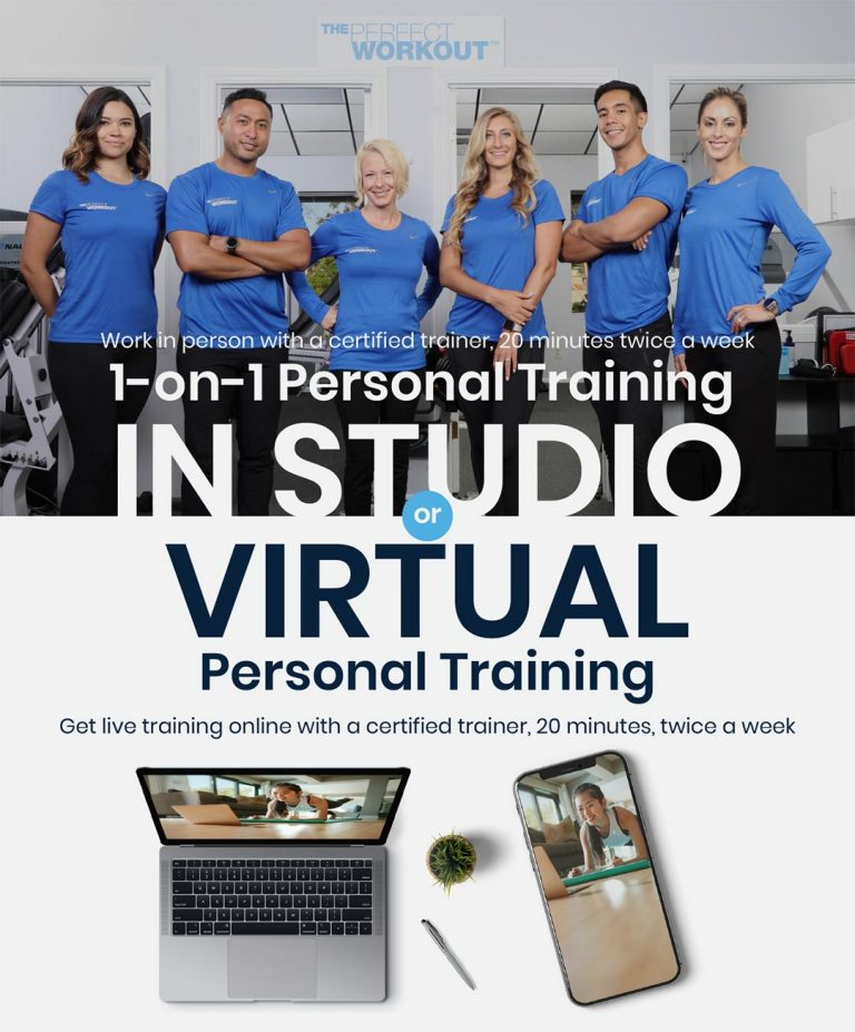 The Perfect Workout team with in studio and virtual personal training