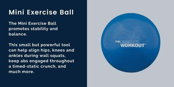 the perfect workout mini exercise ball for virtual training program to promote stability and balance