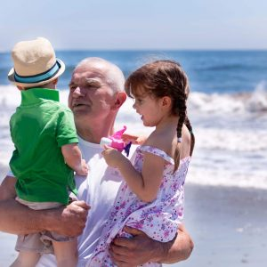 grandpa and grandkids healthy strong